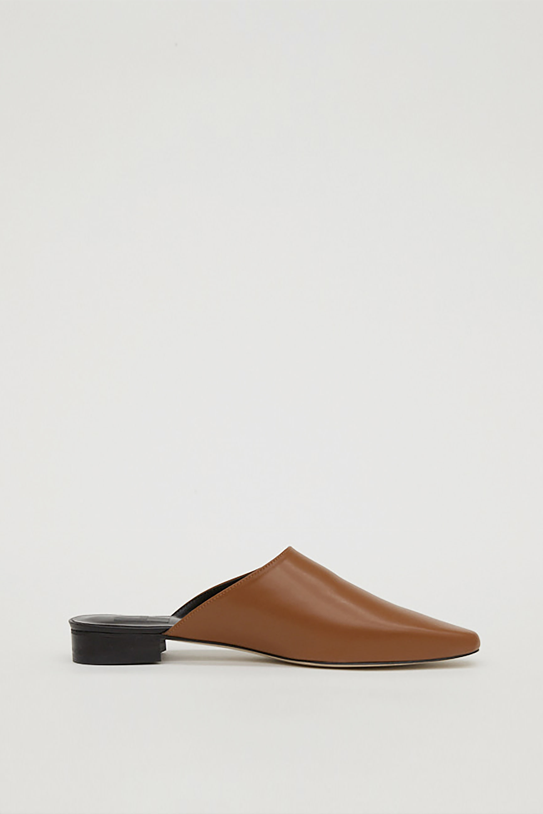 LEATHER MULE_CAMEL