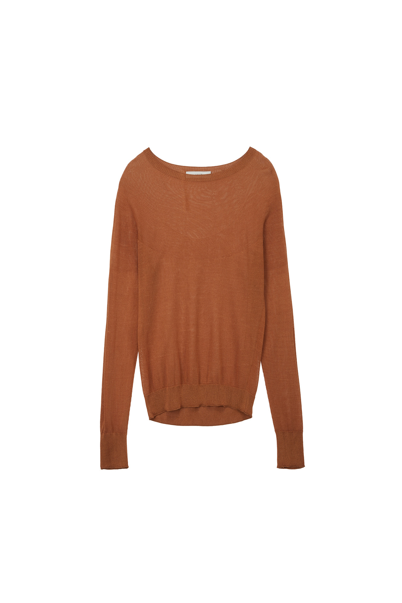WHOLE GARMENT VISCOSE KNIT_DEEP ORANGE