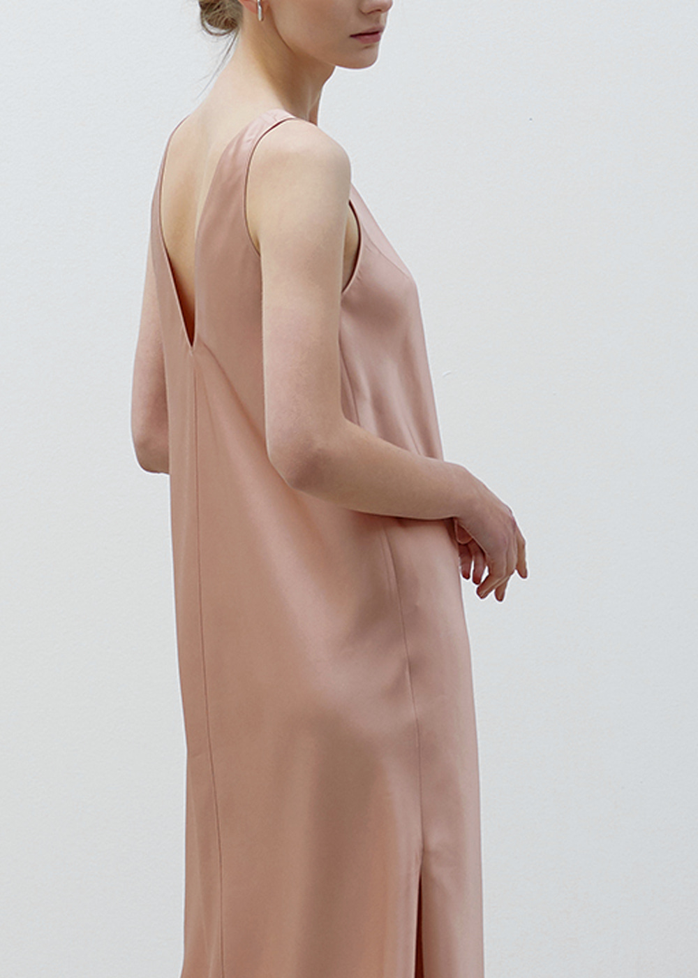 SIDE-SILT DRESS PINK