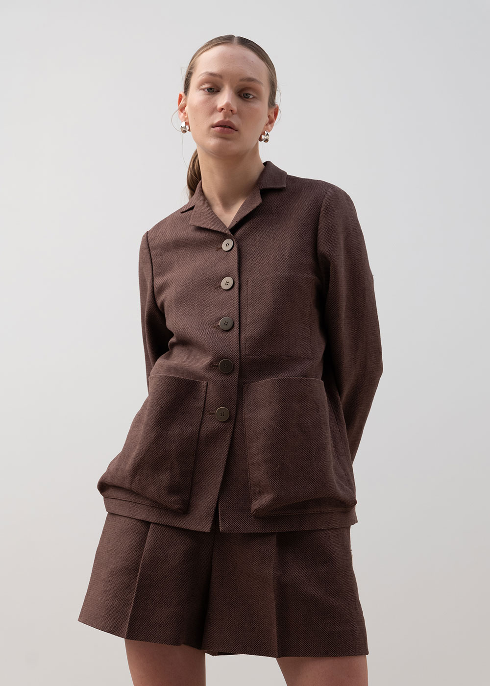 OUT POCKET JACKET BROWN