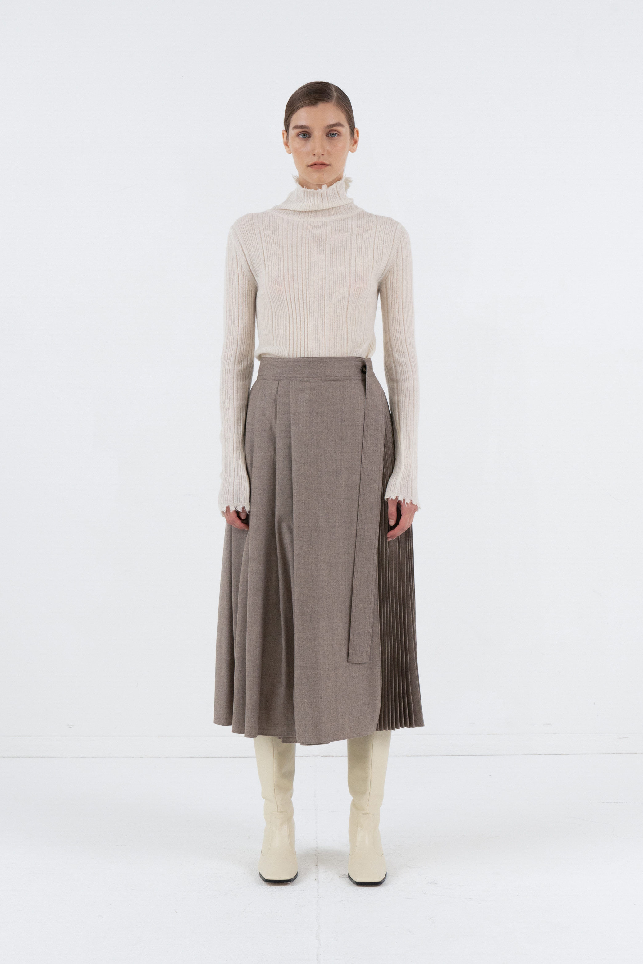 KIDMOHAIR TURTLENECK GOLGI TOP_IVORY