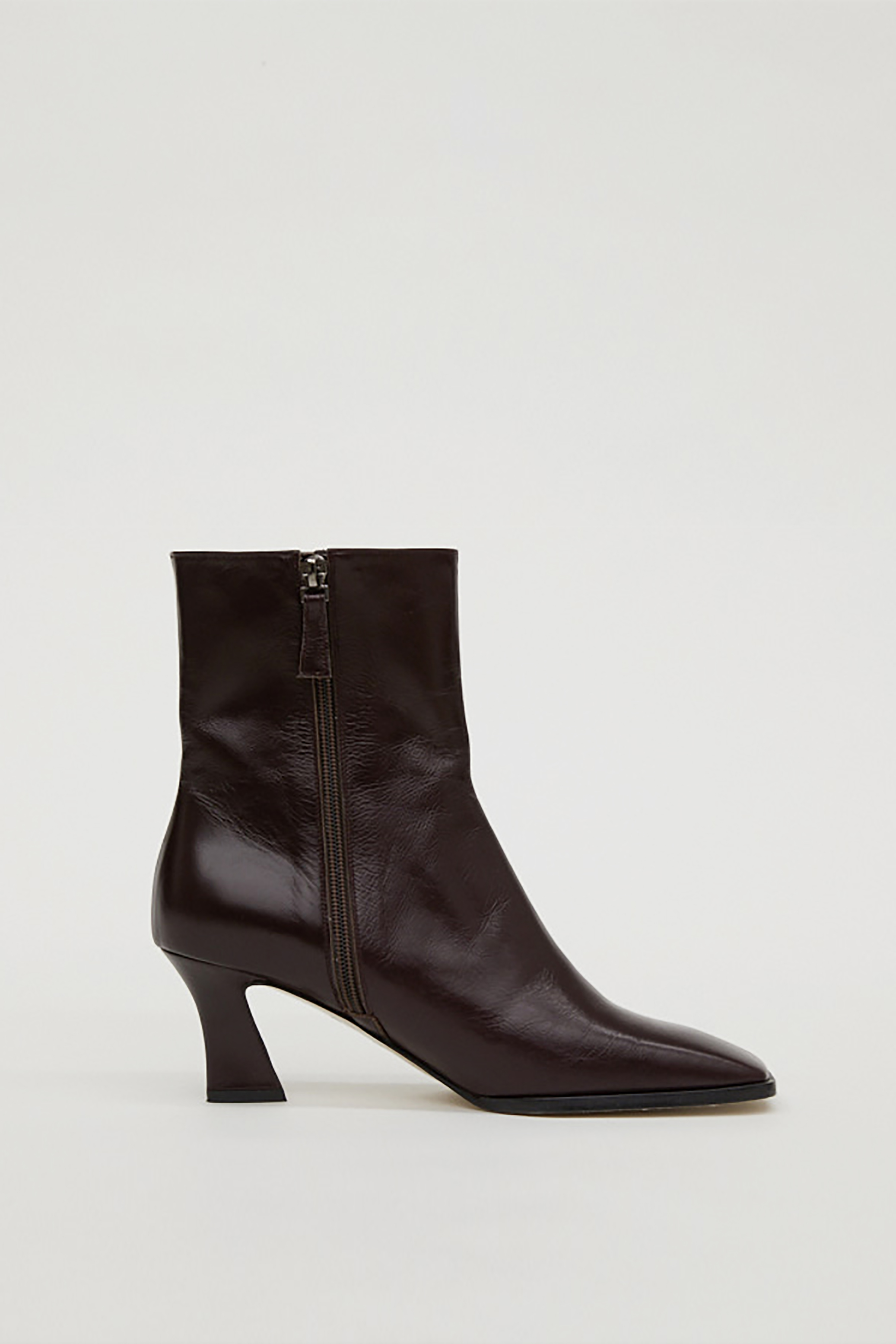 LEATHER ANKLE BOOTS_WINE