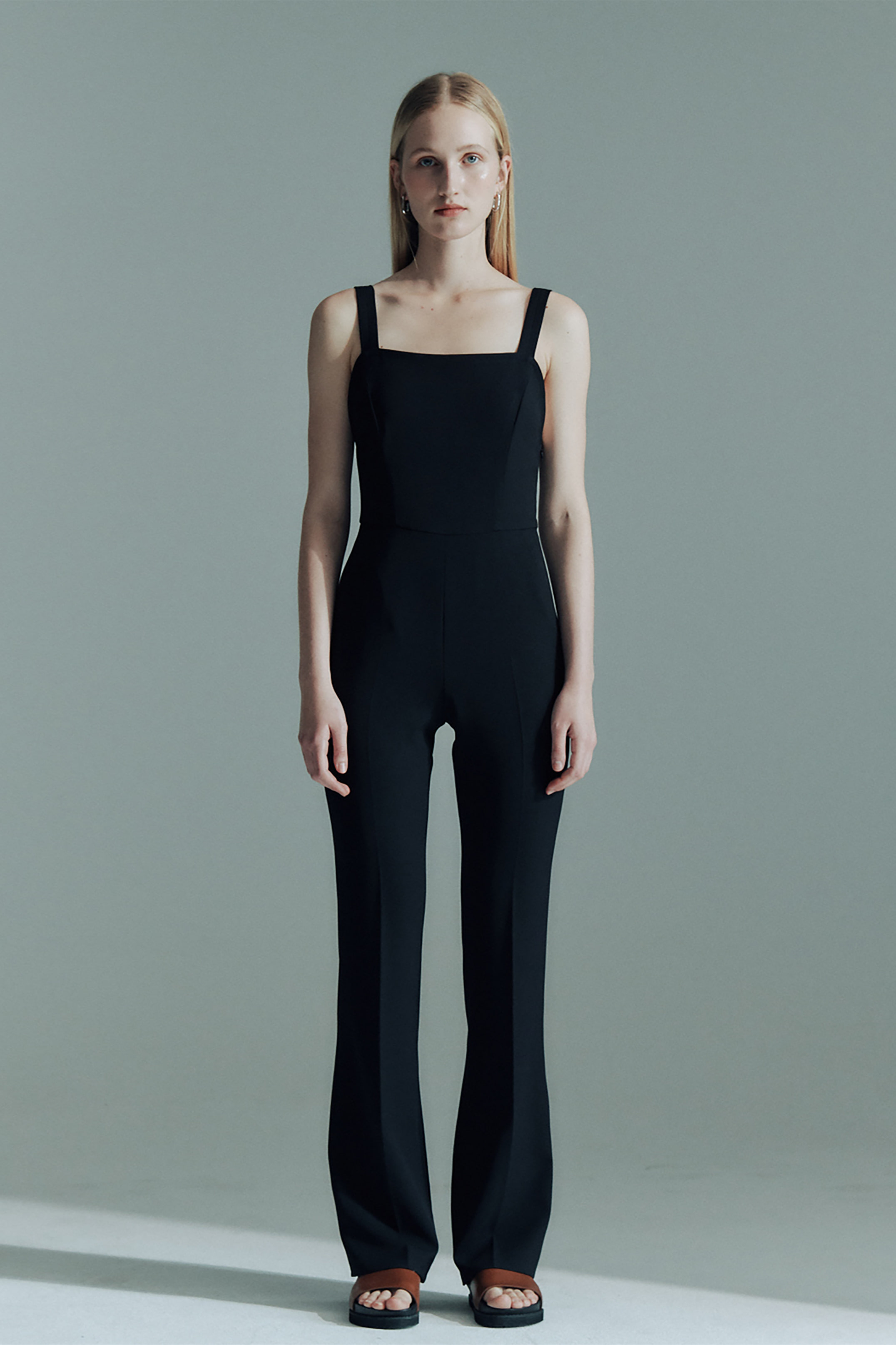 STRETCH SLIP JUMPSUIT_BLACK