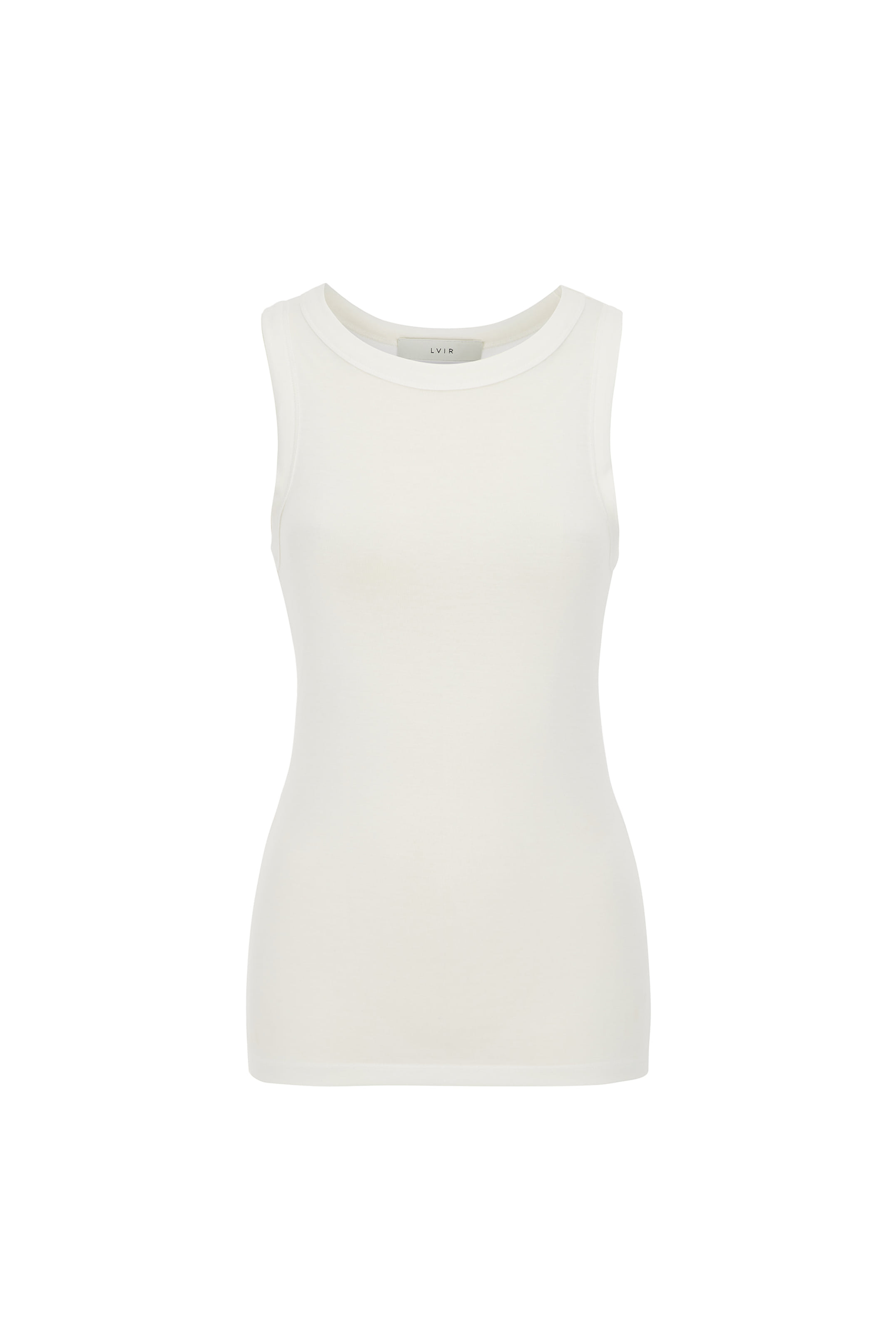 HALTER SLEEVELESS TOP_WHITE