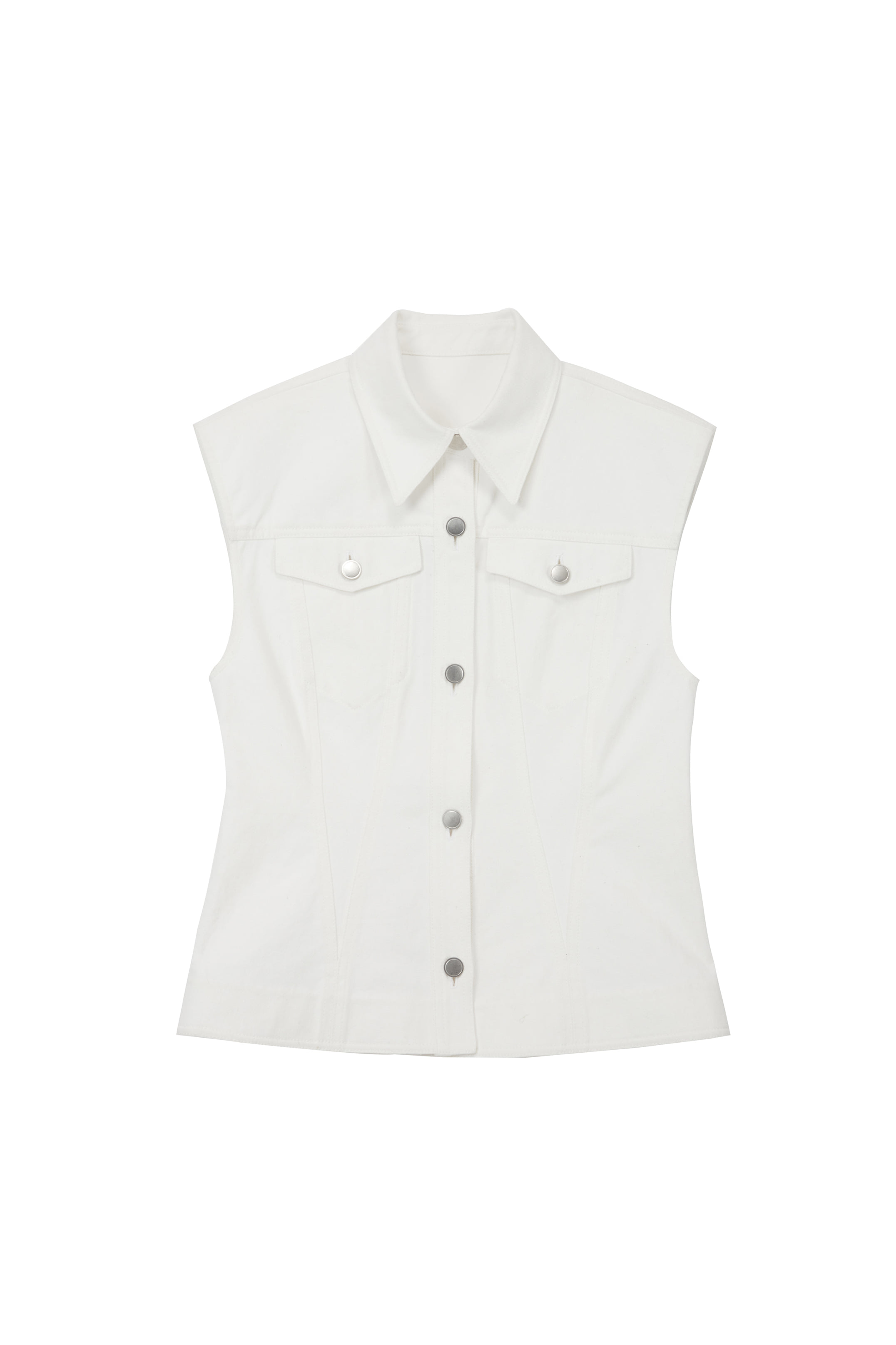 COTTON STITCH VEST_IVORY